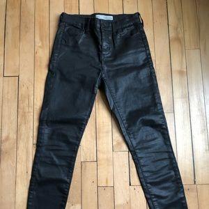 Top shop Coated Black Jeans